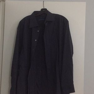 Men's navy striped dress shirt size xxl 18 34/35